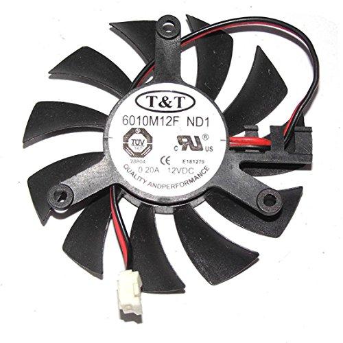 iHaospace 6010M12F ND1 12V 0.2A 55mm 2PIN Graphics Card Cooling Fan Grafikkartenk¨¹hler