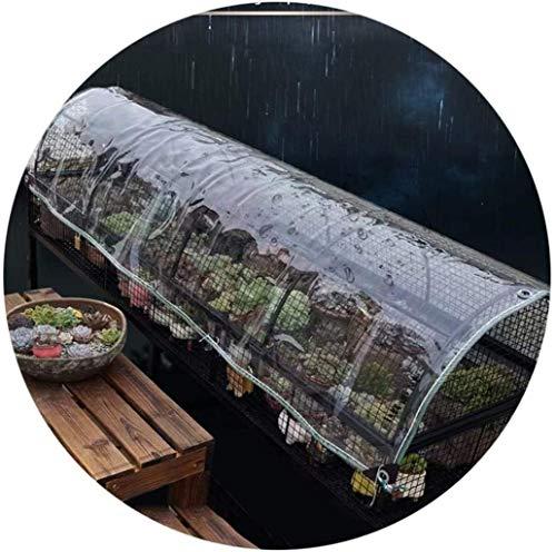 Fundas para Muebles de jardín a Prueba de Agua 1.3x2.2m, Cubierta para Muebles de Patio, Lona anticongelante Transparente Impermeable a Prueba de Polvo Durable al Aire Libre 0.5 mm de Grosor, 22 Tama