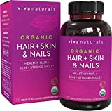 7. Organic Hair Skin and Nails Vitamins for Women with Biotin, Hair Vitamins and Skin Vitamins That Promotes Healthy Hair and Nail Growth, 120 Tablets