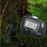 HDE LCD Digital Fish Tank Aquarium Thermometer Terrarium Marine Temperature (Black)