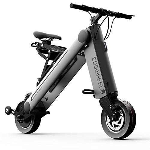 smlro coswheel A-One X Mini 350W bicicletta elettrica alla moda intelligente 1Seconda piegatura Bicicletta elettrica pieghevole e portatile ruote da 8inches 36V 10Ah connectez il telefono tramite Bluetooth.( grigio )