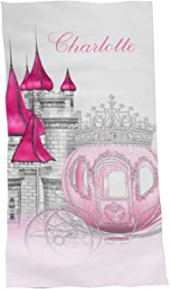 Princess Pink Personalized Beach Towels with Name for Kids Girls Boys Adults Women Men 60X30 Inches,Custom Towel for Trave...