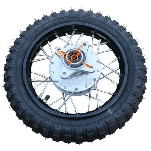 X-PRO 10' Rear Wheel Rim Tire Assembly for 50cc 70cc 110cc Dirt Bikes