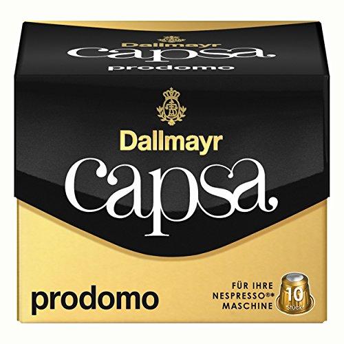 Dallmayr Capsa Prodomo, Nespresso Kompatibel Kapsel, Kaffeekapsel, Arabica Röstkaffee, Kaffee, 50 Kapseln