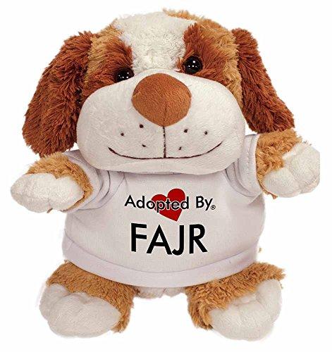 AdoptedBy TB2Fajr Cuddly Dog Teddybären, tragen EIN benannt T-Shirt Gedruckt