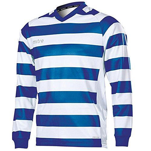 Mitre Kids Converge Hoop Football Match Day Shirt - Royal/White Large