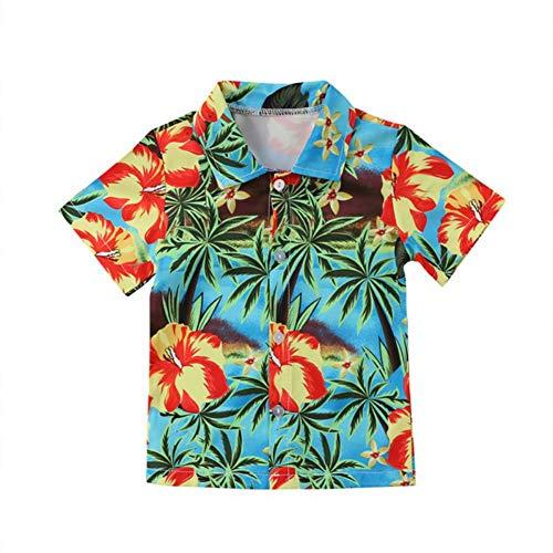 URMAGIC Chemise Hawaïenne Bébé Garçons à Manches Courtes Vêtements de Vacances et Plage 0-5Ans