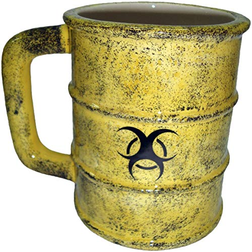 Nemesis Now Toxic Waste Tasse, 19,5 cm, Gelb