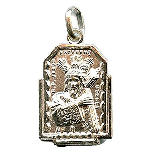 MEDALLA NUESTRO PADRE JESUS NAZARENO (UTRERA) 20 mm PLATA DE LEY