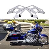 Fits 2020 CVO Street Glide Touring Detachables Two-Up King Tour Pack Mounting Rack for Harley 2014-2021 18 Road Glide Razor Trunk 19 Electra Glide Chopped Tour Pack Mount 16 Road King Bracket