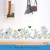 Adhesivo decorativo para pared, diseño de pies, decoración de pared, decoración de pared, autoadhesivo para dormitorio o habitación, C, 171 x 29cm