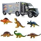 Sapphero Kids modelo de dinosaurio de simulación de transporte de coche camión educativo modelo de coche de juguete para niños regalos de cumpleaños