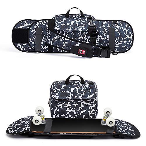 Lixada Multifunktionale Skateboard Tragetasche, Longboard Rucksack Handtasche Umhängetasche für max. 90cm Skateboard