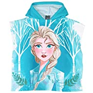 Official Disney Frozen 2 Licensed Product Hooded Poncho Towel made with Quick Dry, Microfibre Fabric With Elsa Character Picture on Front and Anna on the back of the Poncho One size. Suitable for age 2-7 Years Latest Collection