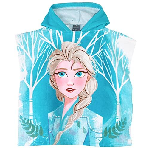 Disney Toalla de Poncho con Capucha Oficial de Frozen/Minnie Mouse para niñas,...