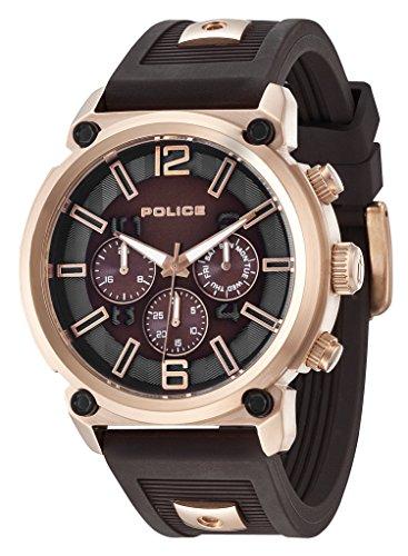 Police Reloj de Hombre Armor de Cuarzo con esfera marrón...