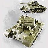 Wynkl 2 PACK High Speed 2.4Ghz Nachladbare Drahtlose Fernbedienung Panzer Tank Amerikanischen Rotating Stunt Military Tank-Spielzeug Mit Licht Sound Erwachsene Kinder Boys Collection Geschenke (Farb