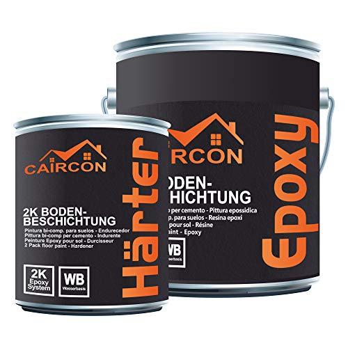 CAIRCON Résine époxy - Peinture de sol béton extérieur à Haut trafic - pour garage, entrepot - Beige 5KG