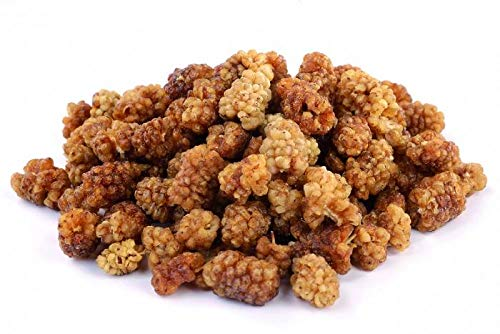 Mûres blanches bio 1 kg crues séchées sans sucre ajouté organic raw white mulberries 1000g