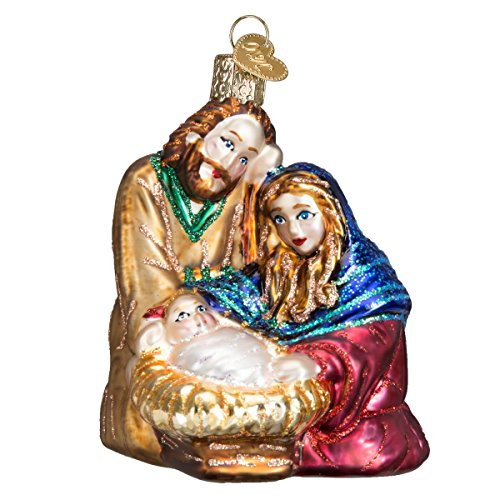 Old World Christmas Glass Blown Ornaments for Christmas Tree Holy Family