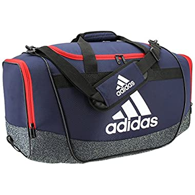 adidas Defender II Medium Duffel Bag, Medium, Collegiate Navy/Jersey Onix/Scarlet/White