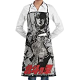 XCNGG Delantal de Cocina Fist of The North Star Cooking Apron with Pocket for Men Women