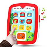 REMOKING Mini Baby Tablet,Kid's Learning Play Centre with Lights and Sounds, Toddlers,Boys