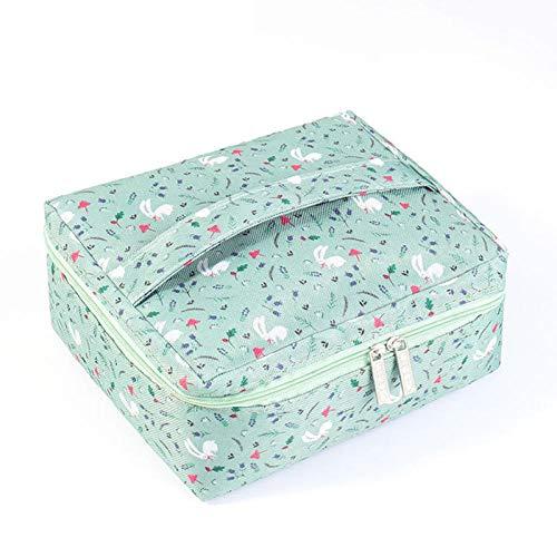 Sacs à cosmétiques Maquillage Sac Femmes Organisateur de voyage Kit de toilette Trousse de rangement Portable Maquillage Wash Box-Light_Green_20_x_17_x_9cm