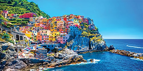 Italy Cinque Terre Coast Decorative Scenic Travel Photography Print (Unframed 12x24 Poster)