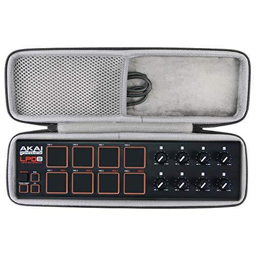 Hart case Tasche für AKAI Professional LPD8 Portabler MIDI Pad Controller von co2CREA(travel case)