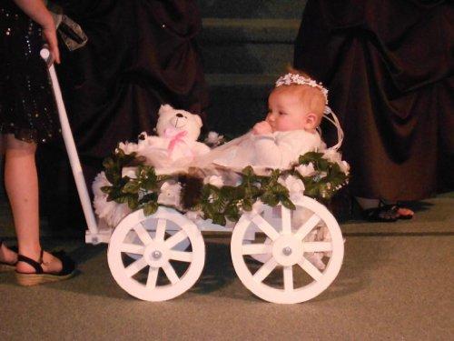 Buy Discount Small Flower Girl Pumpkin Wagon - Gloss White