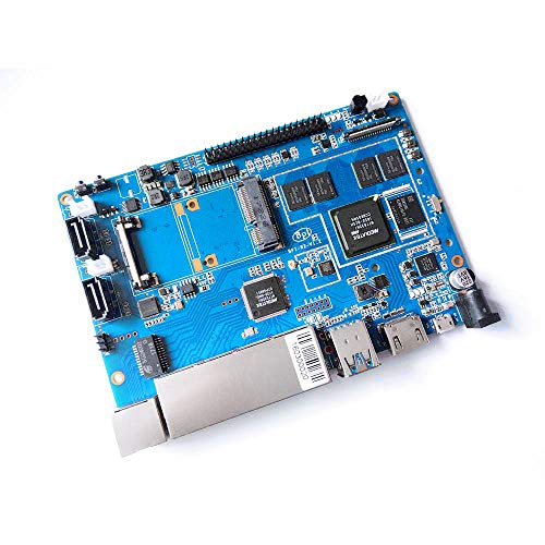 Banana Pi R2 Smart WiFi Router – Router Wi-Fi ad alta velocità, doppia banda 5 Gigabit con 2 GB di DDR3 basato su MediaTek MT7623N Soc OpenWRT per server NAS VPN