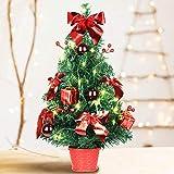SHareconn Mini Artificial Tabletop Christmas Tree, 20 Inch Xmas Decor Small Tree with...
