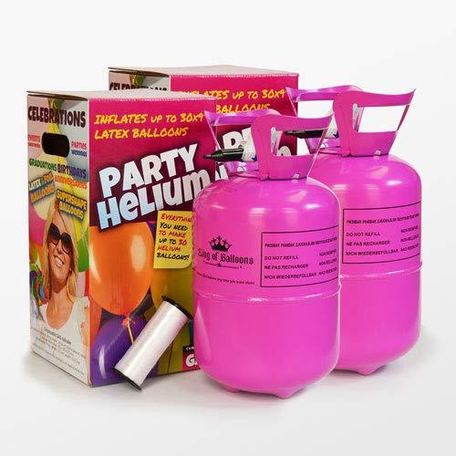We Are Party Pack Mini Duo. 2 bombonas de Helio de 0.25m3 para 60 Globos