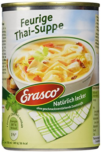 Erasco Feurige Thai -Suppe , 3er Pack (3 x 390 ml Dose)