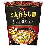 日清 とんがらし麺 うま辛海鮮チゲ 63g ×12個