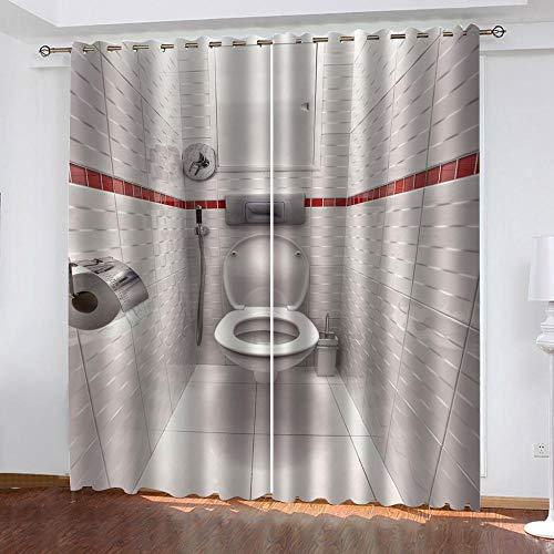 KCCYFRGN® Cortinas Salon Dormitorio Modernas 3D Aseo Simple 220X215 Cm (Ancho X...