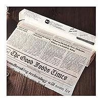 YVCHEN ベーキングペーパー新聞・デザイン包装包装ベーキング紙のキッチン用品を油吸収 (Colore : White)