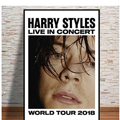Nuevo Harry Styles Tour Rock Music Star Poster e impresiones Arte de la pared Pintura moderna de la lona Cuadros de la pared para la sala de estar Decoración del hogar-50x70cm Sin marco