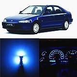 WLJH 23 Pezzi Blu Ghiaccio Cruscotto Indicatore di Livello Kit Luce LED per 1992-2000 Civic EG Ex EK Ej SRS DX LX Si HX del sol