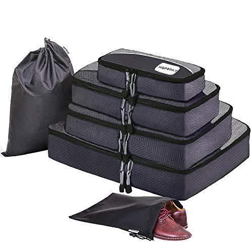 HOPERAY スーツケース アレンジケース オーガナイザー トラベル ポーチ 整理整頓 インナーバッグ 出張 旅行 パッキングキューブ 3 色 (ブラック)