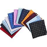 12 Piezas de Pañuelo de Puntos Cuadrado Pañuelo de Bolsillo de Traje de Hombres para Boda, Fiesta, Otras Ocasiones, 12 Colores