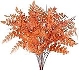 Kesio Paquete de 2 plantas artificiales para exteriores de seda sintética Sophora Japonica, arbustos de hojas de granja, arreglos florales para decoración de bodas, oficina, otoño, paquete de 4