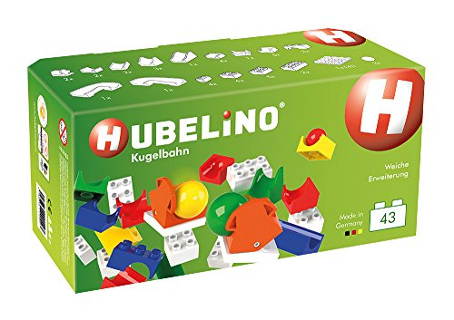 Hubelino Marble Run - 43-Piece Switch Expansion Set - The Original! Made in Germany! - Certified and Award-Winning Marble Run - 100% Compatible with Duplo