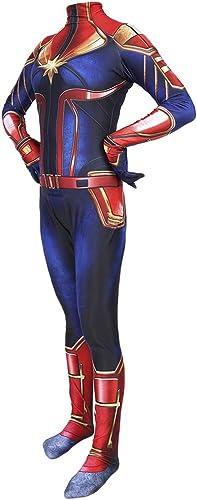 diseñador en linea GanSouy Película Capitán Marvel Body Spandex Monos Capitán Marvel Marvel Marvel Disfraces Disfraz mujeres Navidad Halloween Show Cosplay  exclusivo