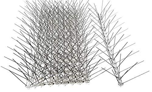 10 Stück (5 m) Taubenabwehr, 5 Reihen Spikes auf 50 cm Polycarbonatleiste, Taubenspikes, Vogelabwehr - DIREKT VOM Hersteller