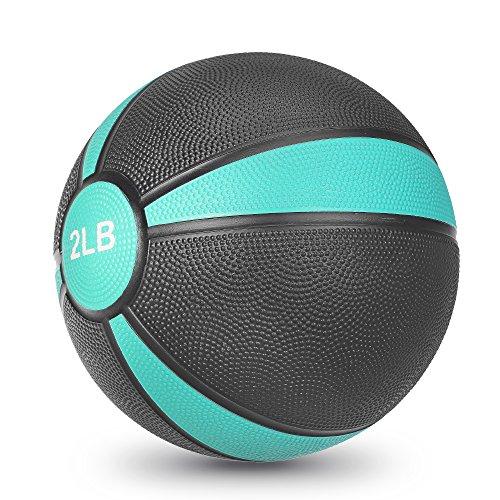 JBM Medicine Ball Slam Ball 2lbs 4lbs 6lbs 8lbs 10lbs 12lbs 15lbs Workouts / Exercise Strength Training Cardio Exercise Plyometric & Core Training Squats, Lunges (Blue - 2LB, Medicine Balls)