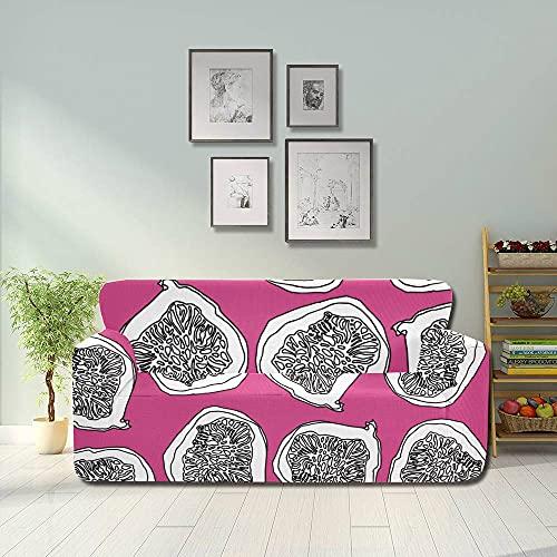 ALALAL Fundas elásticas de Higo de Frutas Retro a la Moda, Fundas para Muebles de sofá, Protector de Muebles Equipado 2