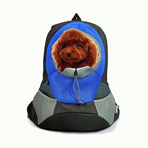 CrazySell Fashion Portable Pet Travel Vettore Cane Zaino Borsa a Spalla di Cane e Gatto Zaino Trasportino per Animale M Dimensione per Gli Animali Domestici All'interno di 5000g (Blu)