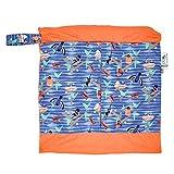 Close Pop-In - Bolsa húmeda impermeable para pañales de tela, lavable, reutilizable, cambio de pañales, 37 cm x 32,5 cm, capacidad para alrededor de 5 pañales, impreso Twilight Garden